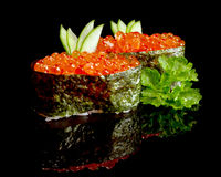 Sushi caviar Royalty Free Stock Images