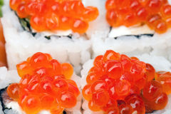 Sushi  with caviar Royalty Free Stock Photo