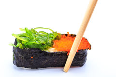 Sushi  caviar and seaweed Stock Image