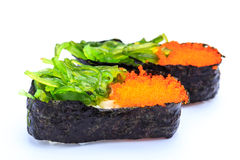 Sushi  caviar and seaweed Royalty Free Stock Photo