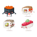 Sushi character vector  Stock Photos