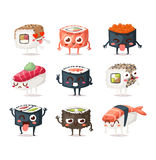 Sushi character vector  Royalty Free Stock Photography