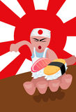 The Sushi Chef Royalty Free Stock Images