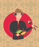 Sushi chef card Royalty Free Stock Photo