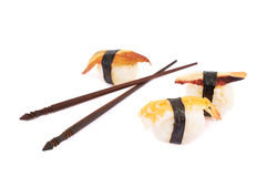 Sushi and chinese sticks composition Stock Images
