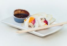 Sushi and chocolate Royalty Free Stock Photos