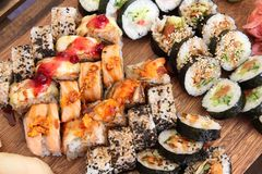 Sushi choice Stock Image