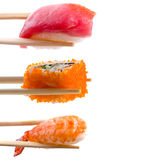 Sushi with chopsticks Royalty Free Stock Image