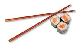 Sushi and chopsticks Stock Photo