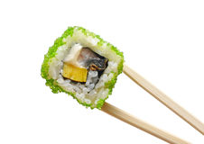 Sushi with chopsticks Stock Photo