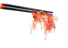 Sushi with chopsticks Stock Image