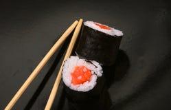 Sushi and chopsticks Stock Photos