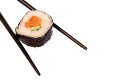 Sushi with Chopsticks Stock Photos