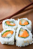 Sushi and chopsticks Royalty Free Stock Image