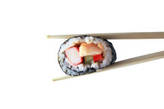 Sushi with chopsticks Royalty Free Stock Photo