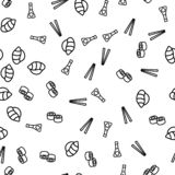 Sushi Chopsticks Sauce Soy Theme Seamless Pattern royalty free illustration