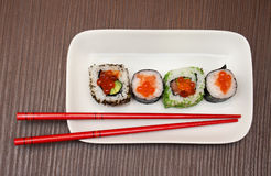 Sushi chopsticks Royalty Free Stock Photography