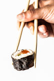 Sushi and chopsticks Stock Photos