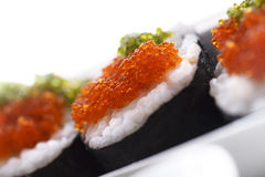 Sushi With Chopsticks Stock Photography