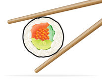 Sushi and chopsticks vector illustration Stock Images