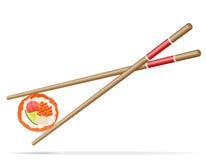 Sushi and chopsticks vector illustration Stock Photo