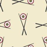 Sushi and chopsticks vector seamless pattern vector illustration