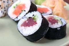 Sushi close-up Stock Images