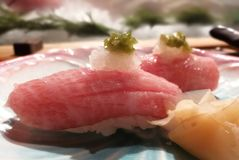 Sushi close up Stock Photography