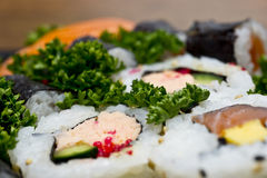 Sushi closeup background Stock Photography