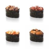 Sushi, cogumelo de Shiitake, em um fundo branco Fotos de Stock