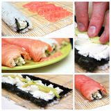 Sushi collage Stock Photos