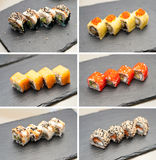Sushi collection Royalty Free Stock Images