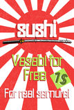 Sushi color banner Stock Images