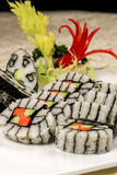 Sushi. Color pictures about catering food Royalty Free Stock Photos