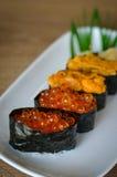 Sushi com chopsticks Foto de Stock