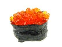 Sushi com o caviar vermelho. Foto de Stock
