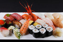 Sushi combination Stock Images