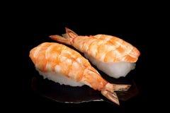 Sushi con el camarón Foto de archivo libre de regalías