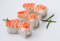 Sushi con gambero Fotografie Stock