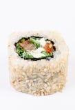 Sushi con i leawes insalata e paprica Immagine Stock