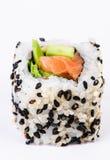 Sushi con l'avocado e lo sgombro Fotografia Stock