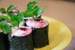 Sushi con le verdure Fotografie Stock