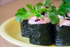 Sushi con le verdure Fotografia Stock Libera da Diritti