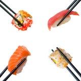 Sushi con los palillos Imagenes de archivo