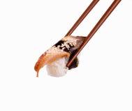 Sushi con un pescado Fotos de archivo