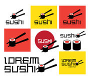 Sushi Concept Design Set. EPS 8 Supported Stock Photo