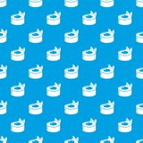 Sushi concept pattern vector seamless blue. Repeat for any use royalty free illustration
