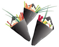 Sushi cone Stock Photo