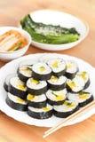 Sushi coréens Photographie stock libre de droits