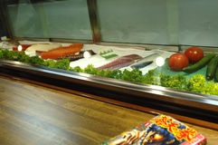 Sushi counter. Study of a sushi counter Royalty Free Stock Image